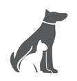 pet dog and cat icon material for design vector image