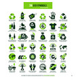 36 symbols for eco recycling vector image vector image