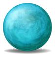 A blue ball vector image