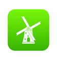 ancient windmill icon digital green vector image
