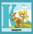 animal alphabet k vector image