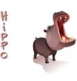 animal Hippo vector image vector image