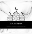 awesome eid festival greeting card design vector image vector image