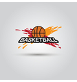 Ball symbol BasketBall Logo Badge Sport emblem vector image vector image