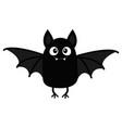 bat vampire happy halloween cute cartoon baby vector image vector image