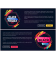 black friday web horizontal vector image