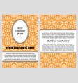 brochure with orange vintage arabic pattern vector image vector image