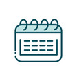 calendar reminder date social media line and fill vector image vector image
