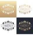 Calligraphic design element Golden menu vector image vector image