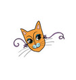cat mask female face vector image vector image