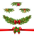 christmas garland big collection white background vector image vector image