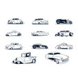 classic cars collection vector image vector image