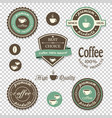 coffee iconslabels posters signs banners set on vector image vector image