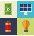 collection icons electrical energy vector image vector image