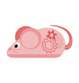 colorful cartoon mechanical mouse vector image
