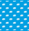 credit card pattern seamless blue vector image vector image