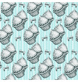cupcakes seamless pattern background vintage vector image