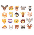 cute cartoon animal faces and heads