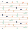 cute fruit seamless striped pattern vector image