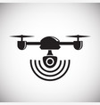 drone quadcopter icon on white background for vector image
