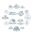 electric tools logo icons set simple style vector image vector image
