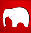 elephant icon vector image vector image