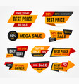 exclusive sale supermarket price tag vector image