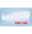 First aid bacgkround with bandage vector image