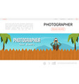 flat photography landing page concept vector image