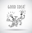 Good idea happy creative couple team black and vector image vector image