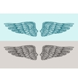 Hand drawn vintage angel wings Sketch vector image vector image
