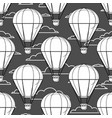 hot air balloon little balloons clouds cartoon vector image vector image
