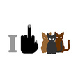I hate cats and cat Logo for bullies and vector image vector image