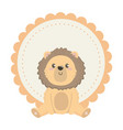 isolated lion cartoon design vector image vector image