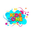 kids title event icon design vector image