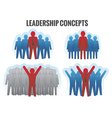 Leadership concepts vector image vector image
