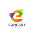letter e logo design vector image