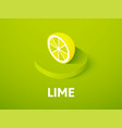 lime isometric icon isolated on color background vector image