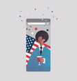 man drinking wine celebrating 4th july american vector image