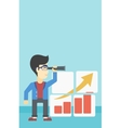 Man searching opportunities for business growth vector image