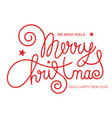 merry christmas brush calligraphy banner vector image vector image