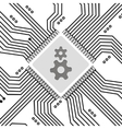Microchip circuit background vector image