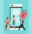 mobile data protection phone security privacy vector image vector image