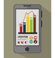 mobile infographic design vector image vector image