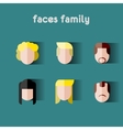 Person family Simple icons vector image vector image