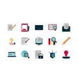property intellectual copyright icons set vector image