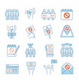 protest action color icons set vector image vector image