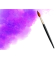 Purple watercolor cloud with realistic vector image