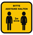 safe distance banner german vector image vector image
