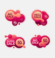 sale badges with liquid color abstract shape vector image vector image